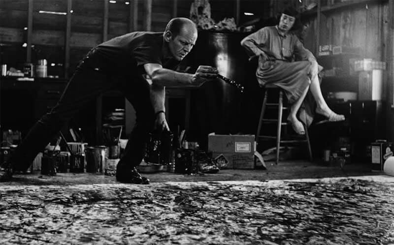 Photo of Jackson Pollock During Work