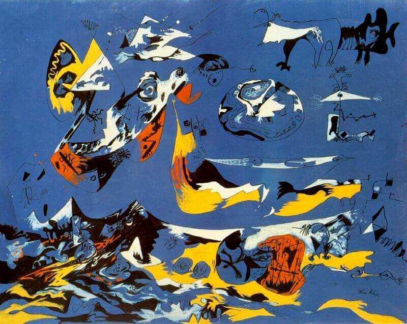 Moby Dick, 1943 by Jackson Pollock