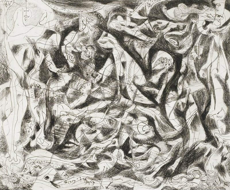 Untitled (4), 1944-45 by Jackson Pollock